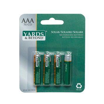 Yards & Beyond 4 Pack AAA Replacement Batteries, Ni-CD 350 mAh