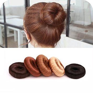 Hair Ring Styler Maker Creator Hot Wig Hair Donut Bun Maker Updo Scrunchie Chignon Bridal Hairpiece Bun Round Chignon for Women Lady Girls (Light G