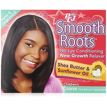Lusters PCJ Pretty-N-Silky Smooth Roots No-Lye Conditioning New Growth Relaxer Kit, Childrens Coarse - 4 OZ by Lusters