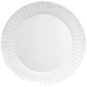 Party Essentials Deluxe Quality Hard Plastic 6-Inch Round Party/Dessert Plates, White, 24 Count