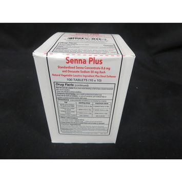 Plus Pharma Senna Plus Laxative + Stool Softener 8.6mg/50mg Tablets 100 Count