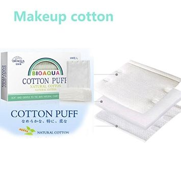 Hunputa 100 sheets Cotton Pads Double-sided Makeup Cotton for Makeup Removal, Facial Cleansing, Outdoor Travel, 100% Natural Cotton, No Skin Irritation