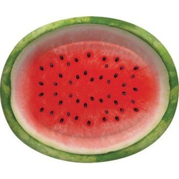 Creative Converting 8 Count Paper Oval Platters, Juicy Watermelon