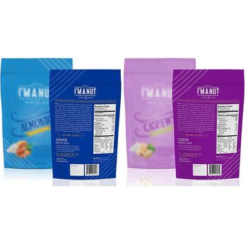 SALTED Almond and Cashew Value Pack Bundle (Roasted, Salted, Premium,) 1 Pound each Bag,
