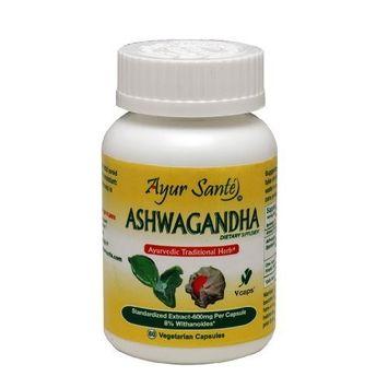 Ashwagandha-Extract 600mg Per Cap(8% Withanoides-48mg*) 60 Veg Caps