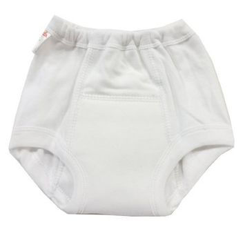 White Cotton Training Pants Size:XS