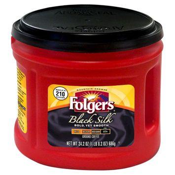 Procter & Gamble Folgers Black Silk Ground Coffee 24.2oz