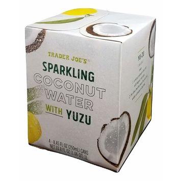 Trader Joe's Sparkling Coconut Water with YUZU - 4 pack - 8.45 oz each