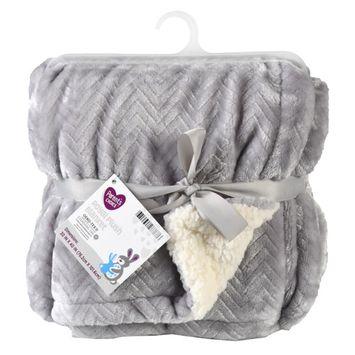 Parents Choice Royal Plush Blanket, Gray [name: actual_color value: actual_color-grey]