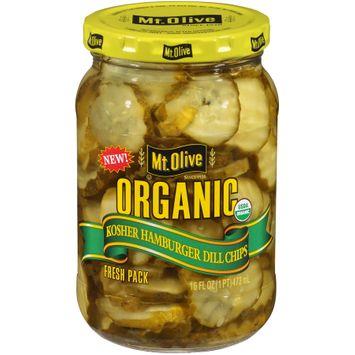 mt Olive Organic Kosher Hamburger Dill Chips