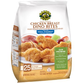 barber foods® fully cooked chicken breast dino bites