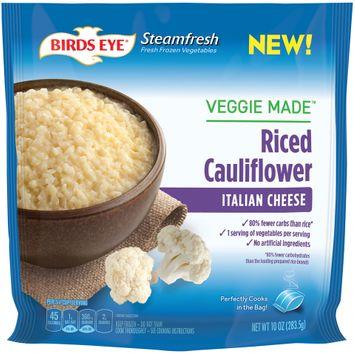 birds eye® steamfresh veggie made™ italian cheese riced cauliflower