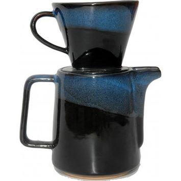 Always Azul Pottery Coffee Maker Percolator Color: Real Blue Glaze