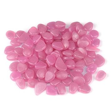 Pebbles Stone, Hometom 100Pcs Pebbles Stone Glow in Dark Home Garden Walkway Deco