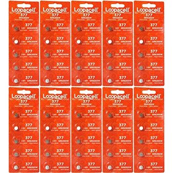 LOOPACELL 377-376 1.55v 377/376 Watch/Calculator (50) Batteries