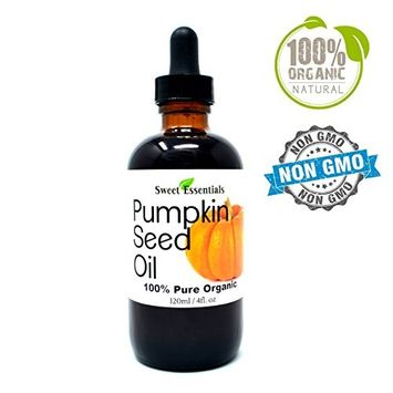 Organic Virgin Pumpkin Seed Oil | Imported From Austria | Various Sizes | 100% Pure| Unrefined | Cold-Pressed | Natural Moisturizer for Skin, Hair & Face | By Sweet Essentials