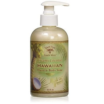 Island Soap & Candle Works Hawaiian Hand and Body Soap, Coconut [Coconut]