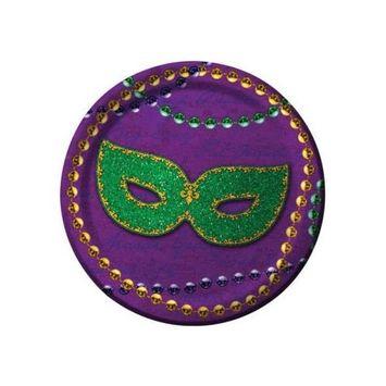 Mardi Gras Mask Dessert Plates