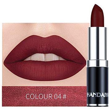 Kanzd Waterproof Lipstick Matte Pumpkin Color Lipstick Eat Earth Rich Vitamin E Moistu