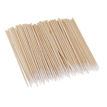 Dovewill 100Pcs Tattoo Cotton Swabs Pointed Tip Buds Cleaning Makeup Cosmetic Q-tips Set