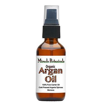 Miracle Botanicals Virgin Organic Argan Oil - 100% Pure Argania Spinosa - Therapeutic Grade - Morocco 60ml/2oz.