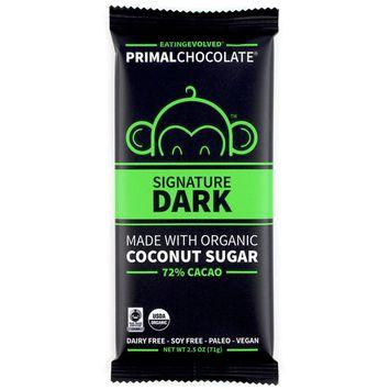 Eating Evolved, PrimalChocolate, Signature Dark, 72% Cacao, 2.5 oz (71 g) [Flavor : Signature Dark, 72% Cacao]