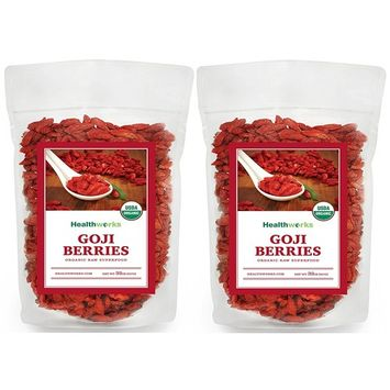 Healthworks Goji Berries Raw Organic, 4lb (4 1lb Packs)