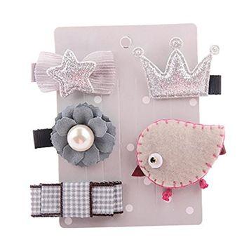 5Pcs Kids Hairpin, Franterd Infant Baby Girl Cartoon Animal Motifs Hair Clip Set