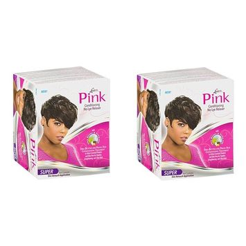 [ DISCONTINUED PACK OF 2] LUSTER'S PINK Conditioning Relaxer SUPER W Shea Butter, Prota-Silk: Beauty