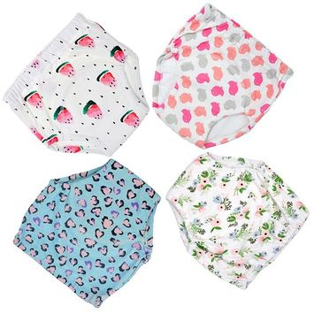 MooMoo Baby 4 Pack Potty Training Pants for Baby and Toddler Girls- 2T-M
