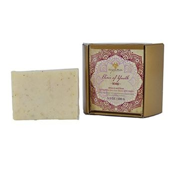 Ayana Wellness 'Elixir of Youth' Bar Soap - Handcrafted Artisan Organic Soap | Fancy Soaps Individually Wrapped & Ethically Made | Luxurious All Natural Face & Body Cleanser | No Artificial Dyes