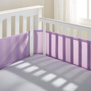 BreathableBaby Classic Breathable Mesh Crib Liner - Lavender
