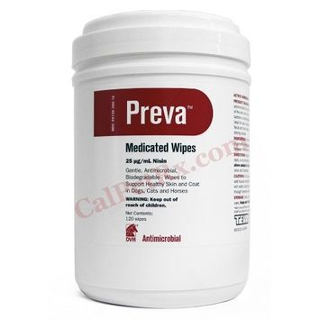 DVM Pharmaceuticals Preva Medicated Wipes - 120 Count