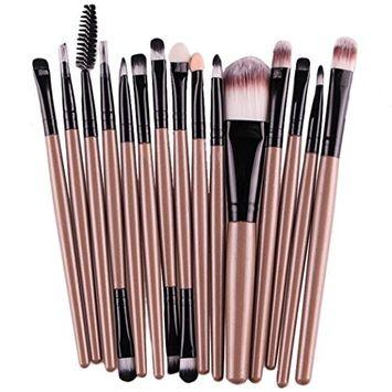 Start 15 pcs/Sets Makeup Brush Set for Eye Shadow Foundation Eyebrow Lip (G