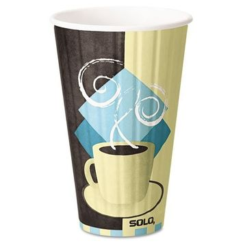 Solo IC16-J7534 16 oz Tuscan Cafe Duo Shield insulated Paper Hot Cup (Case of 525)