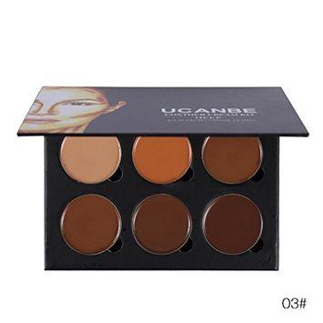 Creazy 6 Color Concealer Primer Beauty Contour Face Cream Makeup Concealer Palette