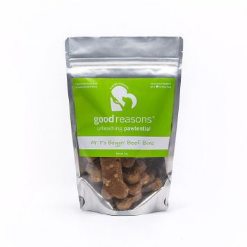 Good Reasons Mr.T Beggin Beef Bone Dog Treat, 7 oz.