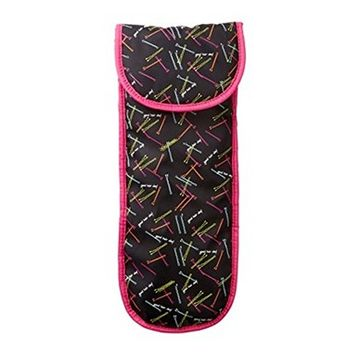 Miamica Heat Resistant Flat Iron Black Nylon Bobby Pin Pattern