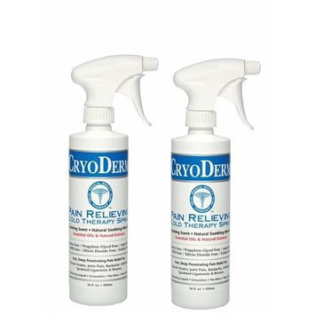 Cryoderm Pain Relieving Cold Spray 16oz Pack of 2 - 32 oz total