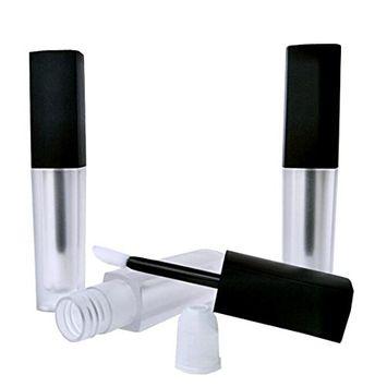 6PCS 2.5ml Clear With Black Cap Acrylic Empty Lip Gloss Tube Lip Labial DIY Makeup Glazing Lip Balm Container Hollow Tubes Lipstick Bottle