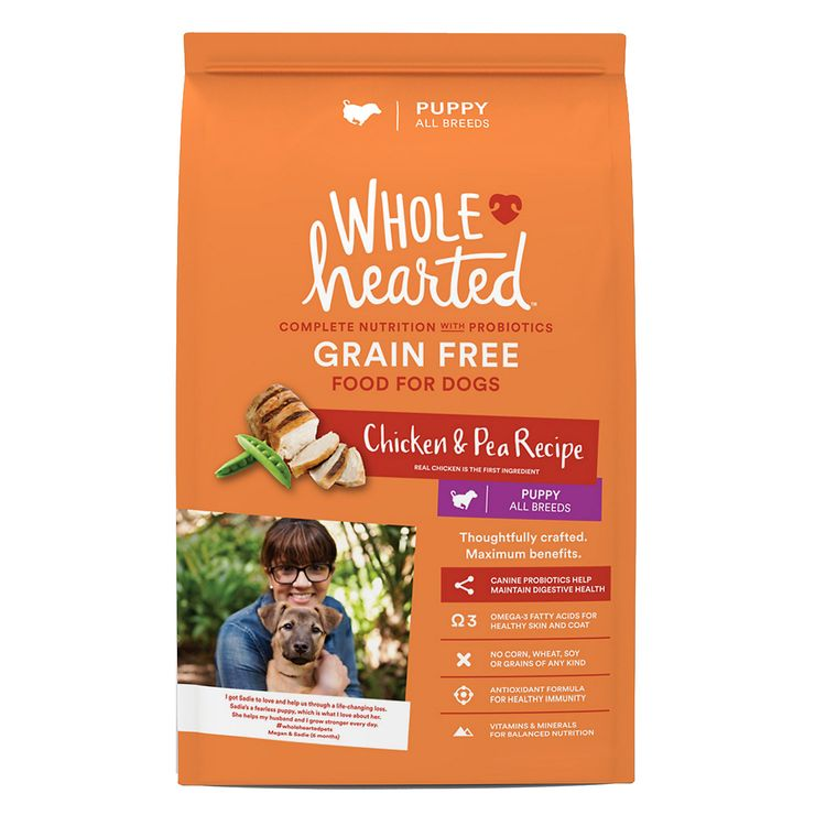 WholeHearted Grain Free Chicken & Pea Recipe Puppy Dog Food