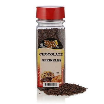 Sprinkles for Cooking, Baking and Decorating Ice Cream, Cup Cakes, Sundaes -by Gold Nut (Chocolate)