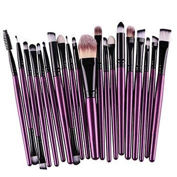 Start 20 pcs Makeup Brush Set + 1pc Water Powder Puff + Make-up 6-Color Eyeshadow Concealer