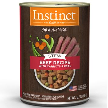 Natures Variety Nature's Variety Instinct Grain Free Stews Beef, Carrots & Peas Canned Dog Food, 12.7 oz, Case of 6