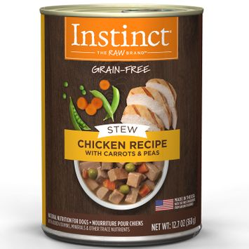 Natures Variety Nature's Variety Instinct Grain Free Stews Chicken, Carrots & Peas Canned Dog Food, 12.7 oz, Case of 6
