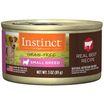 Natures Variety Nature's Variety Instinct Small Breed Grain Free Beef Canned Dog Food, 3 oz, Case of 24