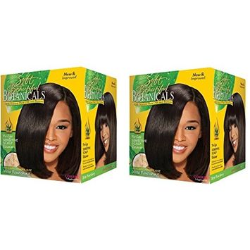 [ Pack of 2] Soft and Beautiful Botanicals Sensitive Scalp Relaxer 1app COARSE: Beauty