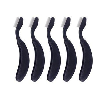 5pcs Folding Eyelash Comb Lash and Brow Makeup Brush Eyebrow Eyelash Comb Metal Teeth
