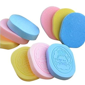 RNTOP Compressed Natural Facial Sponge Puff Face Wash Cleaning Sponge Practical Soft