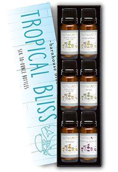 Barnhouse Blue Premium Fragrance Oils - Tropical Bliss - Gift Set 6/10ml Bottles - Coconut Cream, Honeydew Melon, Mango, Pear, Pineapple, Tropical Passionfruit
